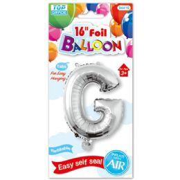 96 Units of Sixteen Inch Balloon Silver Letter G - Balloons & Balloon Holder