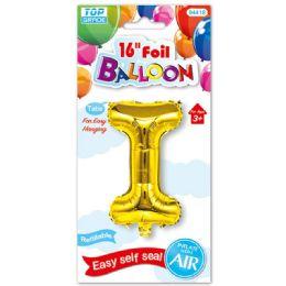 96 Units of Sixteen Inch Balloon Gold Letter I - Balloons & Balloon Holder