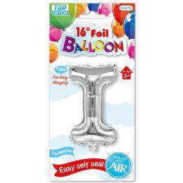 96 Units of Sixteen Inch Balloon Silver Letter I - Balloons & Balloon Holder