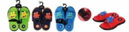 36 Units of Junior Boys Summer Beach Sandal - Boys Flip Flops & Sandals