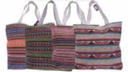 48 Units of Womens Printed Beach Tote Bag - Tote Bags & Slings