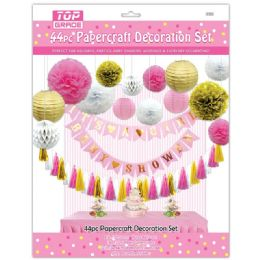 12 Units of Forty Four Piece Party Decoration Set - Party Banners