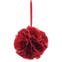 36 Units of Six Inch Silk Flower Burgandy - Wedding & Anniversary