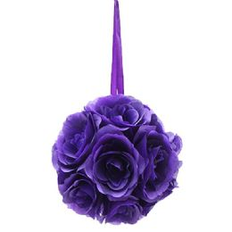 12 Units of Ten Inch Pom Flower Silk Purple - Wedding & Anniversary
