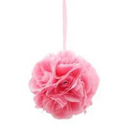 12 Units of Ten Inch Pom Flower Silk Baby Pink - Wedding & Anniversary