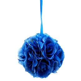 12 Units of Ten Inch Pom Flower Silk Dark Blue - Wedding & Anniversary