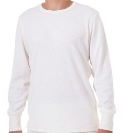 24 Units of Men's White Heavyweight Thermal Top, Size Large - Mens Thermals