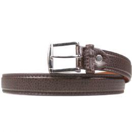 36 Units of Mans Brown Slim Leopard Print Belt - Mens Belts