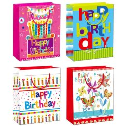 144 Units of Birthday Gift Bag Medium Size - Gift Bags Assorted
