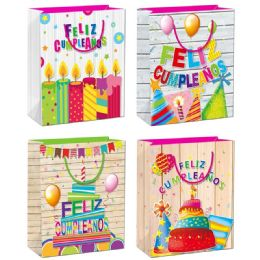 144 Units of Birthday Gift Bag Large - Gift Bags Assorted