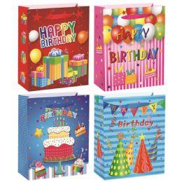 72 Units of Birthday Bag Medium - Gift Bags Assorted