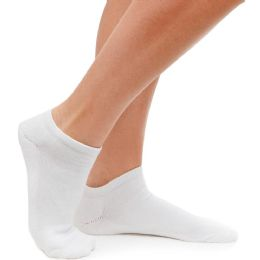 60 Units of Yacht & Smith Kids No Show Cotton Ankle Socks Size 6-8 White BULK PACK - Girls Ankle Sock