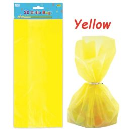 96 Units of Loot Bag Yellow Twenty Count - Party Favors