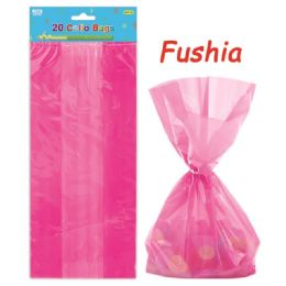 96 Units of Loot Bag Fuschia Twenty Count - Party Favors