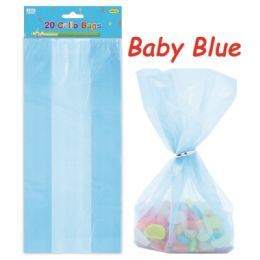96 Units of Loot Bag Baby Blue Twenty Count - Party Favors
