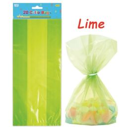 96 Units of Loot Bag Lime Twenty Count - Party Favors