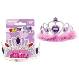 96 Units of Birthday Tiara Assorted - Party Hats & Tiara