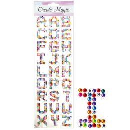 144 Units of Rhinestone Sticker Letters - Stickers