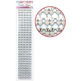 144 Units of Rhinestone Strass Silver - Stickers
