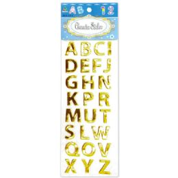 144 Units of Shiny Stickers Letters Gold - Stickers