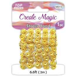 96 Units of Strass Band Gold And Silver - Craft Beads
