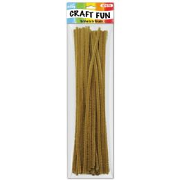 96 Units of Twelve Inch Tinsel Stem Coffee - Craft Stems
