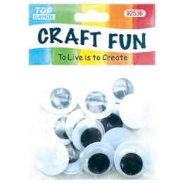 96 Units of Twenty Count Wiggly Eyes - Craft Beads