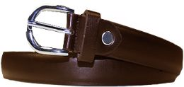 36 Units of Kids Genuine Leather Fashion Belts In Brown - Belts