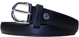 36 Units of Kids Genuine Leather Fashion Belts In Black - Belts