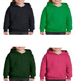 24 Units of Youth Gildan Irregular Assorted Color Hooded Pullover, Size Small - Boys Sweaters