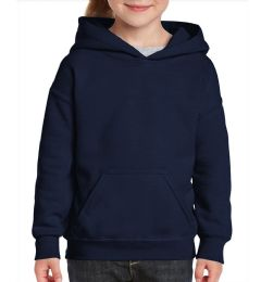 24 Units of Youth Gildan Irregular Navy Color Hooded Pullover, Size Medium - Boys Sweaters