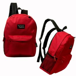 "24 Units of 17"" Classic Red Backpack - Backpacks 17"""