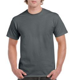 36 Units of Unisex Gildan Charcoal Cotton T-Shirt, Size Medium - Mens T-Shirts