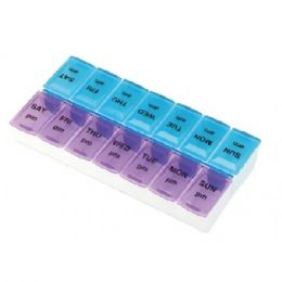 60 Units of Pill Organizer Weekly Assorted Colors - Pill Boxes and Accesories