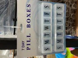 180 Units of Pill Organizer Weekly Am/pm - Assorted Colors - Pill Boxes and Accesories