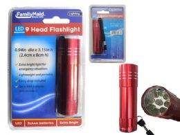 96 Units of 9 Led Flashlight - Flash Lights