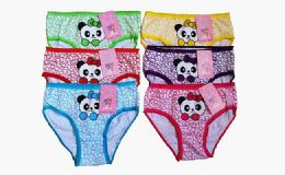 72 Units of Girls Cotton Panty Assorted Colors & Sizes - Girls Underwear and Pajamas