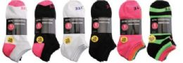 144 Units of Womens Elite No Show Athletic Performance Socks Size 9-11 - Womens Ankle Sock