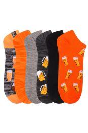 360 Units of Men's Fashion No Show Novelty Socks Size 10-13 - Mens Ankle Sock