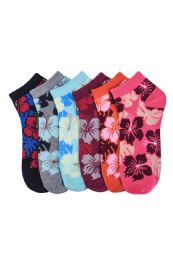 432 Units of Girls Printed Casual Spandex Ankle Socks Size 9-11 - Girls Ankle Sock