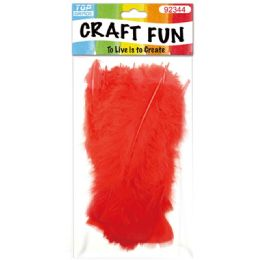 120 Units of Diy Feather Red - Pom Poms and Feathers