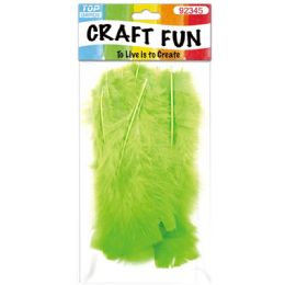 120 Units of Diy Feather Lime Green - Pom Poms and Feathers