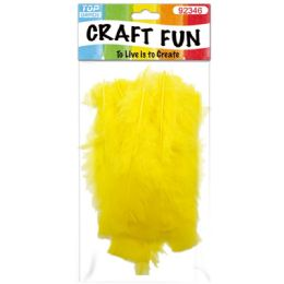 120 Units of Diy Feather Yellow - Pom Poms and Feathers