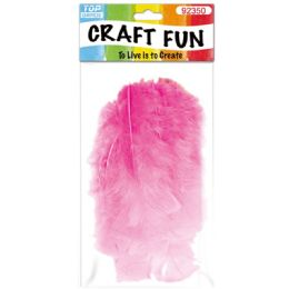 120 Units of Diy Feather Baby Pink - Pom Poms and Feathers