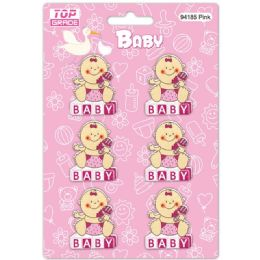 96 Units of Wooden Decoration Baby Girl - Baby Shower