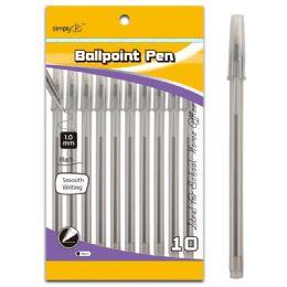 96 Units of Ten Count Ballpoint Pens Black - Pens