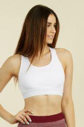 72 Units of Women's Racer Back Sports Bra - Womens Active Wear