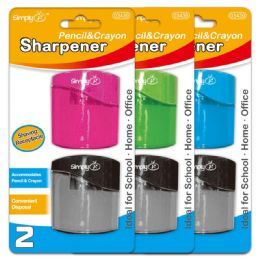 96 Units of Two Pack Dual Sharpener - Sharpeners