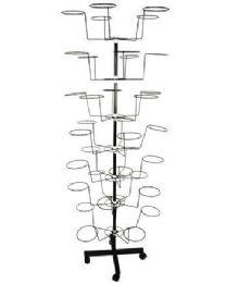 Hat Display Rack On Wheels - Displays & Fixtures