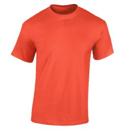 24 Units of Men's Fruit Of the loom Burnt Orange Cotton T-Shirts, Size Small - Mens T-Shirts